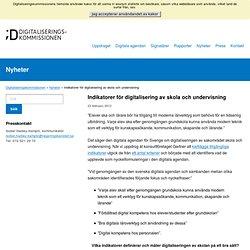 Indikatorer för digitalisering av skola och undervisning