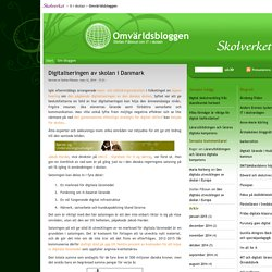 Digitaliseringen av skolan i Danmark