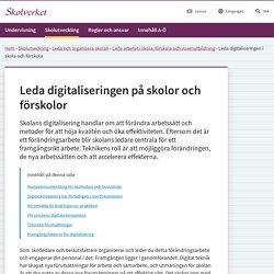 Att leda digitaliseringen på skolor och förskolor