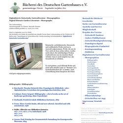 Digitalisierte historische Gartenliteratur : Monographien / Digitised Historic Garden Literature : Monographs