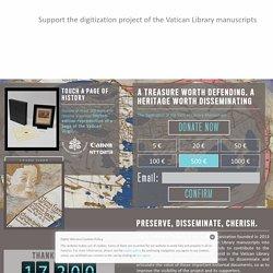Digitalizzazione Manoscritti Biblioteca Vaticana