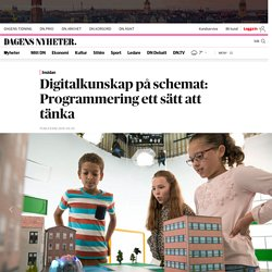 Digitalkunskap på schemat: Programmering ett sätt att tänka