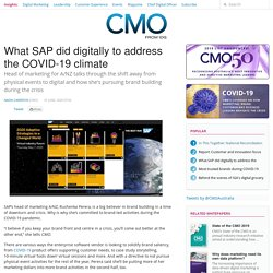 What SAP did digitally to address the COVID-19 climate