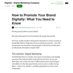 How to Promote Your Brand Digitally: What You Need to Know