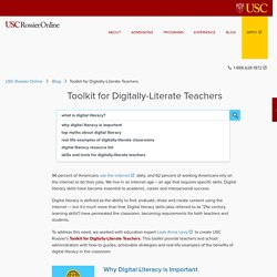 Toolkit for Digitally-Literate Teachers