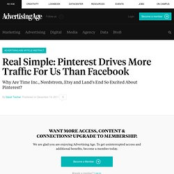 Real Simple: Pinterest Drives More Traffic For Us Than Facebook
