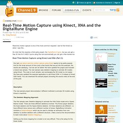 Real-Time Motion Capture using Kinect, XNA and the DigitalRune Engine