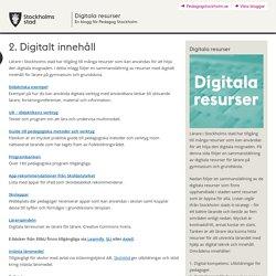 2. Digitalt innehåll