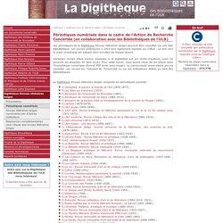 Digithèque de l'ULB : Périodiques numérisés