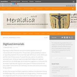 Digitised Armorials – Heraldica Nova
