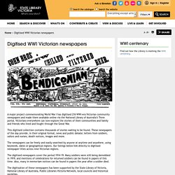 Digitised WWI Victorian newspapers