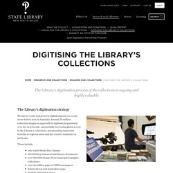 Digitising the Library's collections
