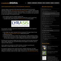 LYRASIS Mass Digitization Collaborative | Creekside Digital