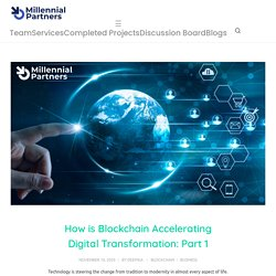 Role of Blockchain in Digitization: Enterprise Blockchain Consultants
