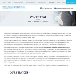 Document Scanning Support Services, Digitization Consulting Solution