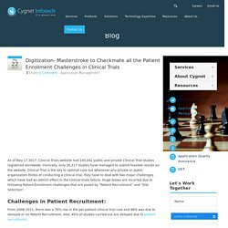 Digitization- Masterstroke to Checkmate all the Patient Enrollment Challenges in Clinical Trials