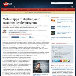 Mobile apps to digitize your customer loyalty program