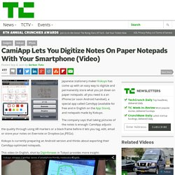 CamiApp Lets You Digitize Notes On Paper Notepads With Your Smartphone (Video)