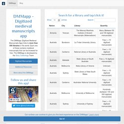 DMMapp - Digitized Medieval Manuscripts App