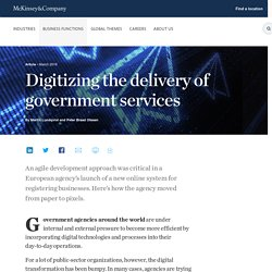 Digitizing the delivery of government services