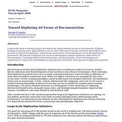 Toward Digitizing All Forms of Documentation