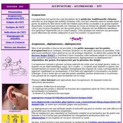 acupuncture, acupressure, digitopressure, digitopuncture, technique de liberation  emotionnelle....