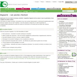 Digiwork - Les pistes d'action