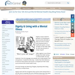 Dignity & Living with a Mental Illness