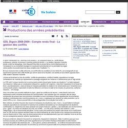 GDL Digoin 2008-2009 - Compte rendu final - La gestion des conflits