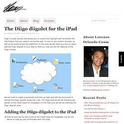 The Diigo diigolet for the iPad — Lorenzo Orlando Caum