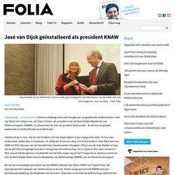 José van Dijck geïnstalleerd als president KNAW