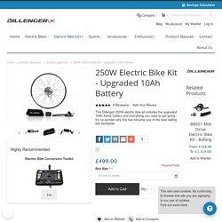 The Dillenger 250W Electric Bike Kit with a 10Ah Lithium Ion Battery.