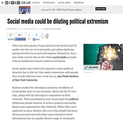 Social media could be diluting political extremism