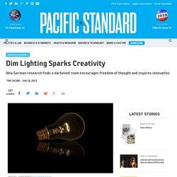 Dim Lighting Sparks Creativity