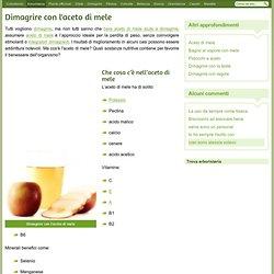 Dimagrire con l'aceto di mele - Dimagrire bevendo aceto di mele