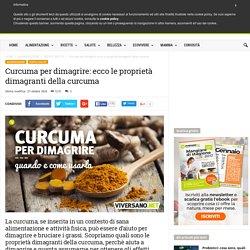 Curcuma per dimagrire: scopriamo le proprietà dimagranti della curcuma