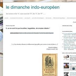 Le dimanche indo-européen