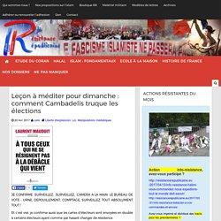 Leçon à méditer pour dimanche : comment Cambadelis truque les élections