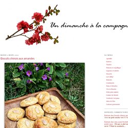 Biscuits chinois aux amandes