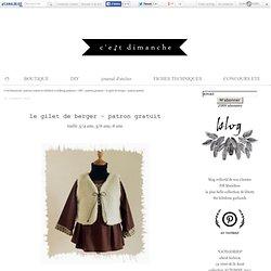 le gilet de berger - patron gratuit - C'est Dimanche, patrons enfant et children's clothing patterns