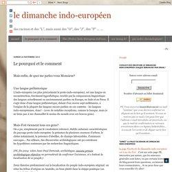 le dimanche indo-européen: Le pourquoi et le comment