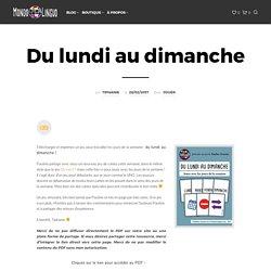Jeu de cartes FLE pour jouer avec les jours : Du lundi au dimanche - Mondolinguo - Français