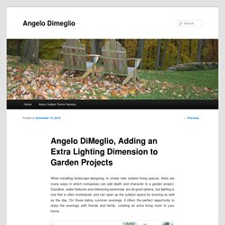 Angelo DiMeglio, Adding an Extra Lighting Dimension to Garden Projects