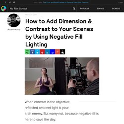 How to Add Dimension & Contrast to Your Scenes by Using Negative Fill Lighting