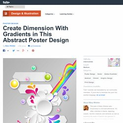 Create Dimension With Gradients in This Abstract Poster Design