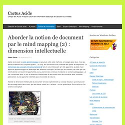 Aborder la notion de document par le mind mapping (2) : dimension intellectuelle