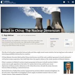Modi in China: The Nuclear Dimension - Carnegie Endowment for International Peace