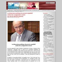 La dimension politique du procès expéditif contre les 3 supporters russes par Karine Bechet-Golovko