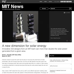 A new dimension for solar energy