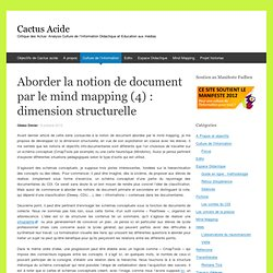 Aborder la notion de document par le mind mapping (4) : dimension structurelle